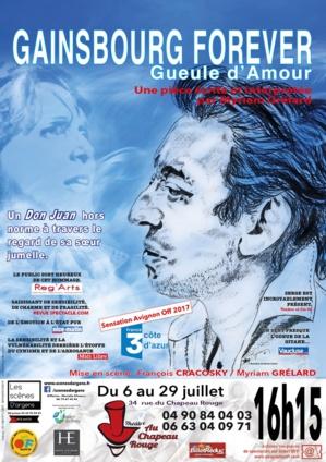 """● Avignon Off 2018 ● """"Gueule d'Amour - Gainsbourg for ever"""" de Myriam Grélard"""