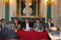 Philippe Chantepie, Maris Gouyon, Pascal Rogard, Georges-François Hirsch, Antoine Doré © SACD.