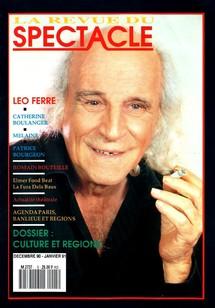 Première de couverture du magazine La Revue du Spectacle, n°spécial de décembre 90 et janvier 91