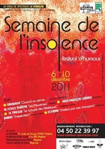 6/12 au 10/12/2011, 13e Semaine de l'Insolence, Le Rabelais, Meythet, Haute-Savoie