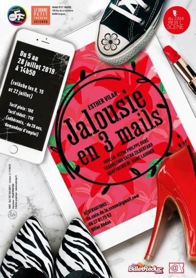 """● Avignon Off 2019 ● """"Jalousie en 3 mails"""" par la Cie Du côté de la Scène"""