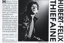 Hubert-Félix Thiéfaine dans le n° 6 de la RDS © Francis Vernhet/La Revue du Spectacle.