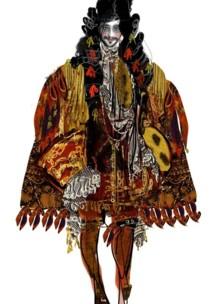 Croquis pour le costume de Monsieur Jourdain © Christian Lacroix.