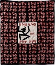 """Alain Prillard, """"je suis un accident cosmique"""", 100 x 85 cm, tissu brodé © DR."""