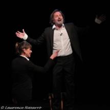 Serena Reinaldi et Christophe Alévêque © Laurence Navarro.