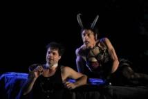 Matthieu Marie (Ménélas) et Dominique Gras (Satyre-Major) © Antonia Bozzi.