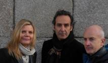 Alexandre Desplat (au milieu), Dominique Lemonnier, Ange Leccia © DR.