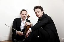 Julien Chauvin, violoniste, et Jérémie Rhorer, jeune chef d'orchestre © C. Doutre.