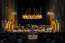 Orchestre de Lorraine dans la Basilique Saint-Rémi © Axel Cœuret.