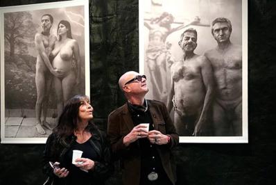 Lors du vernissage de l'expo © C. Vicens.
