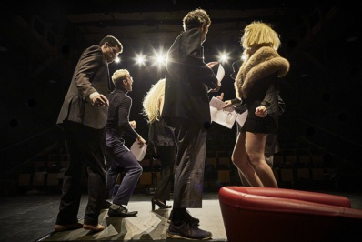 Lors des répétitions au Théâtre du Gymnase à Marseille © Christophe Raynaud de Lage.