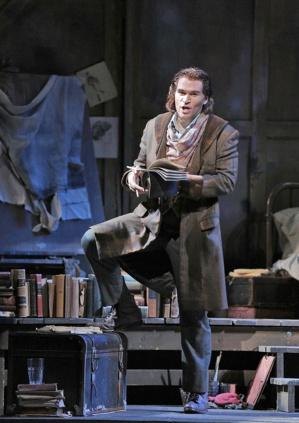 "Michael Fabiano, Rodolfo dans ""La Bohème"" © Cory Weaver."