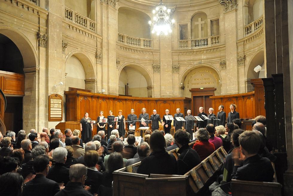 Les Éléments et Joël Suhubiette à l'Oratoire du Louvre © DR.