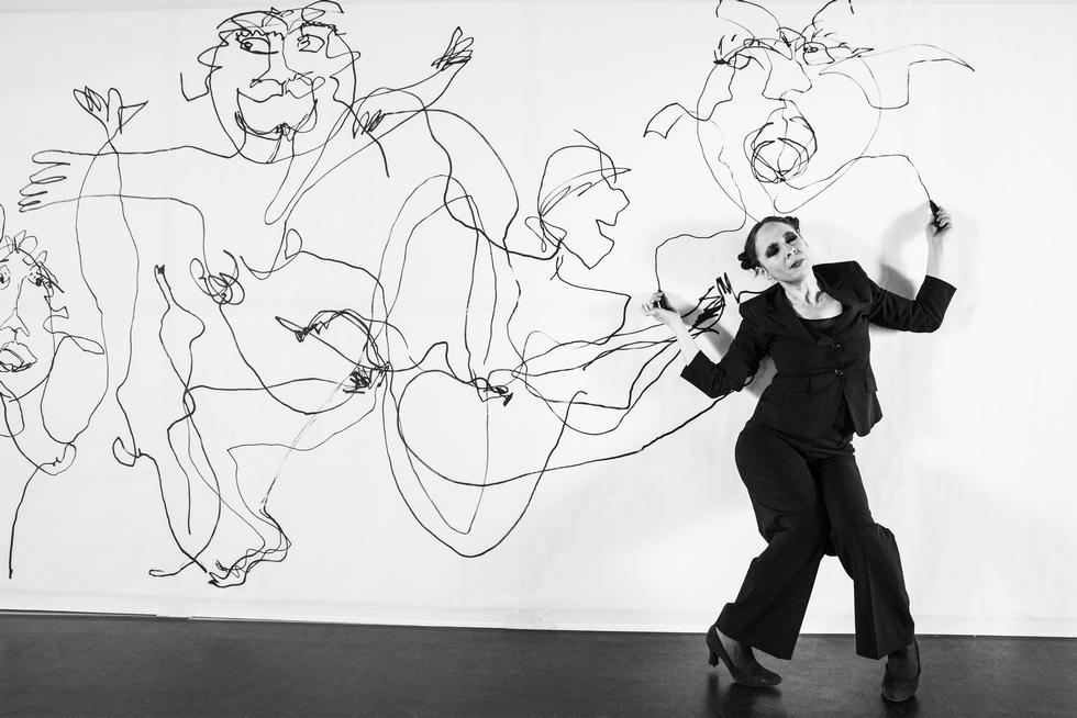 """""""La Fresque"""", Jeanne Mordoj © Géraldine Aresteanu."""