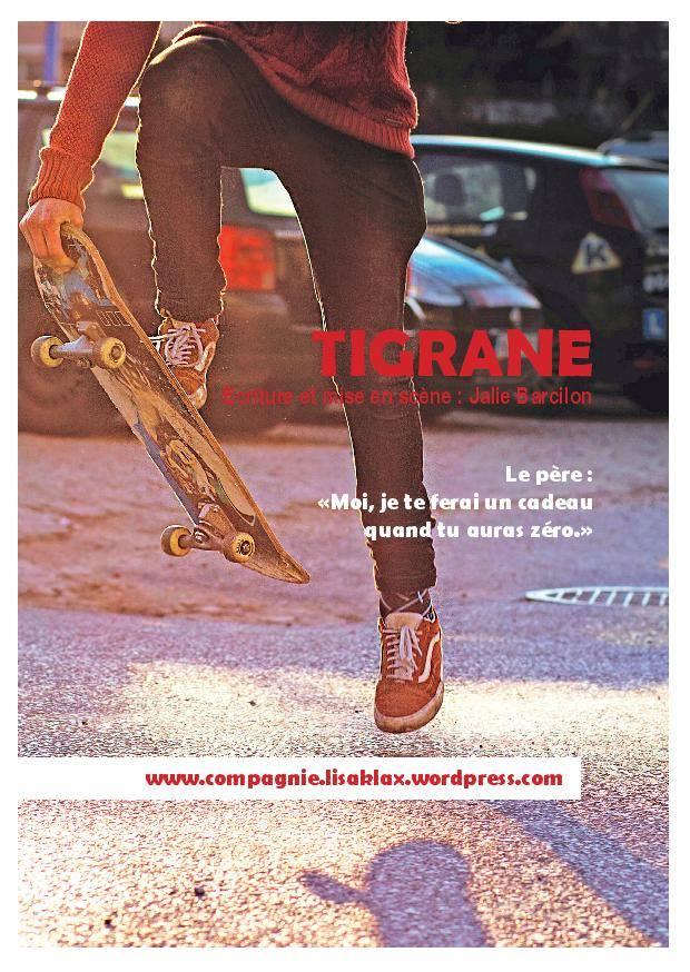 """""""Tigrane"""" de Jalie Barcilon Prix Lucernaire Laurent Terzieff - Pascale de Boysson 2018"""