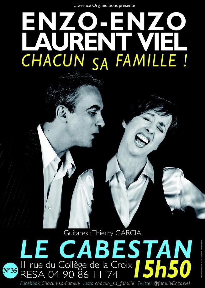 """● Avignon Off 2018 ● """"La Famille : Chacun la sienne !"""" par Enzo Enzo et Laurent Viel"""