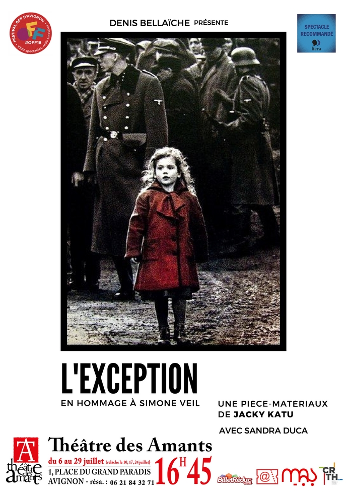 "● Avignon Off 2018 ● ""L'Exception"" de Jacky Katu"
