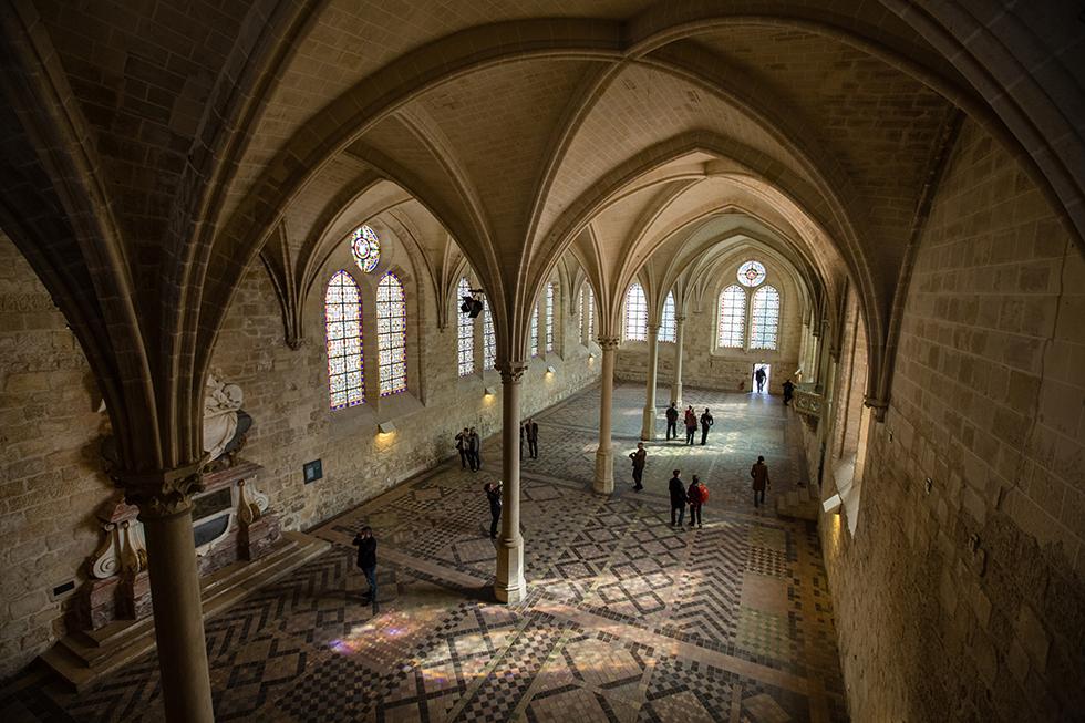 Le réfectoire de l'Abbaye © Agathe Poupeney/PhotoScène.