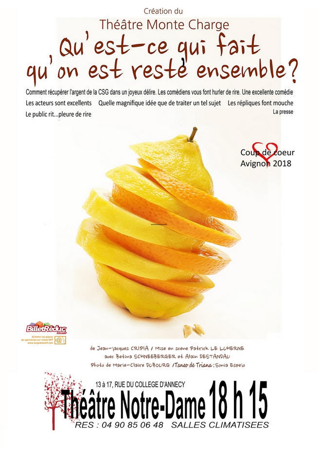 ● Avignon Off 2019 ● Qu'est-ce qui fait qu'on est resté ensemble par le Théâtre Monte-Charge