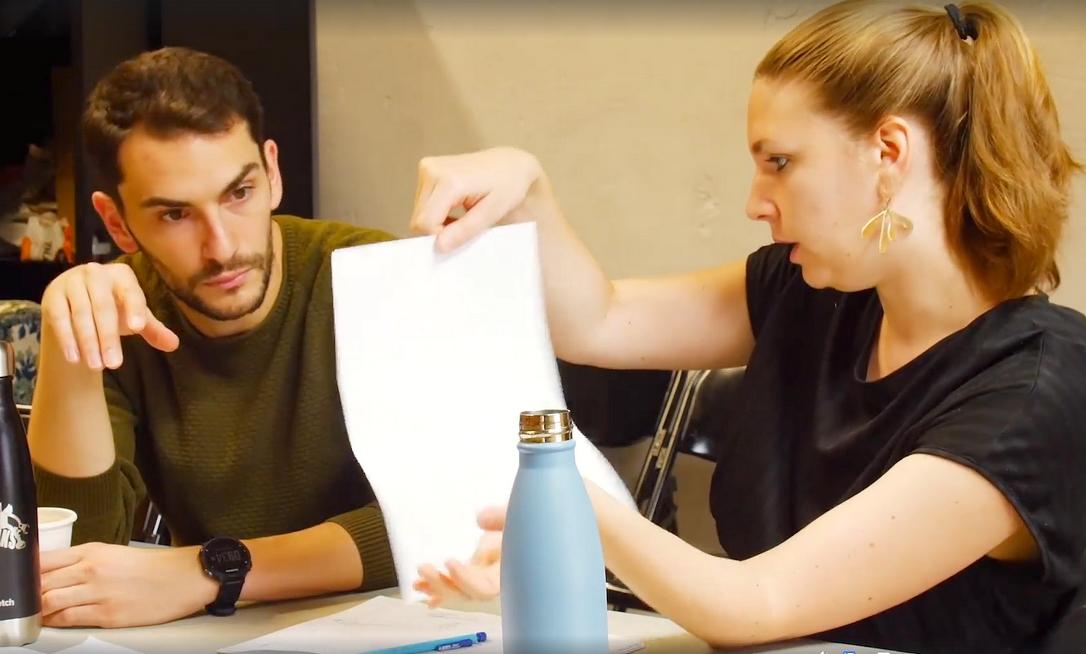 Samuel Valensi et Julie Mahieu, scénographe © Cie La Poursuite du Bleu.
