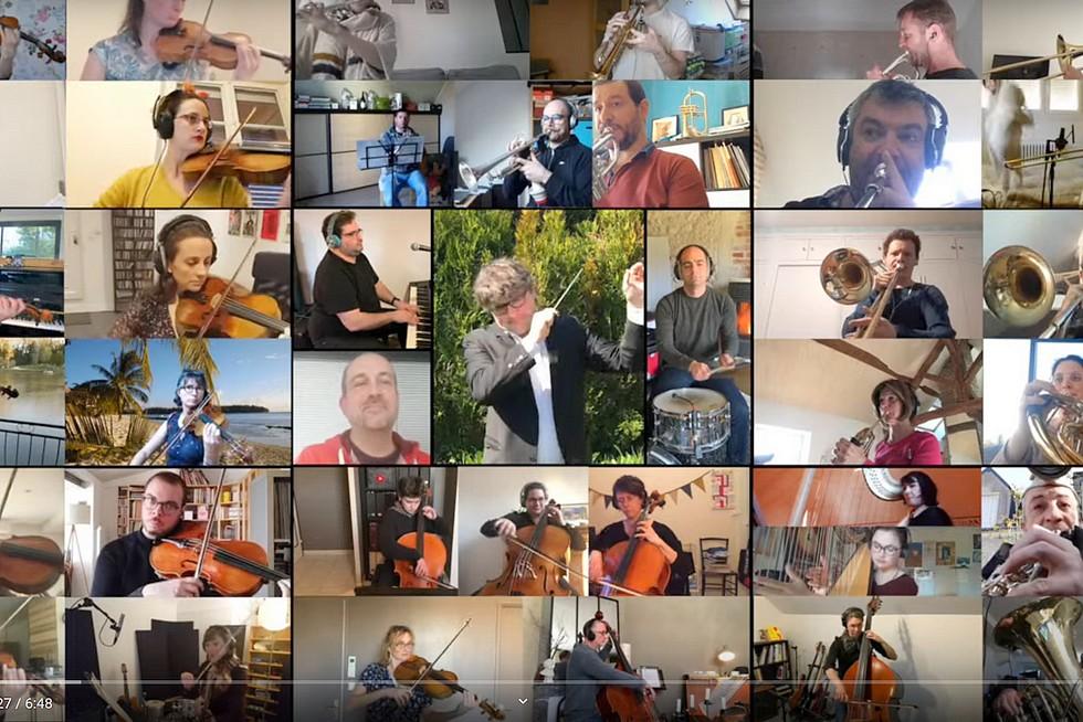 """""""Qu'est ce qu'on attend pour être heureux"""" par L'Inattendu - Orchestre symphonique confiné"""