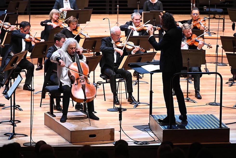 Mischa Maisky  et l'Orchestre national de Lille © Ugo Ponte.