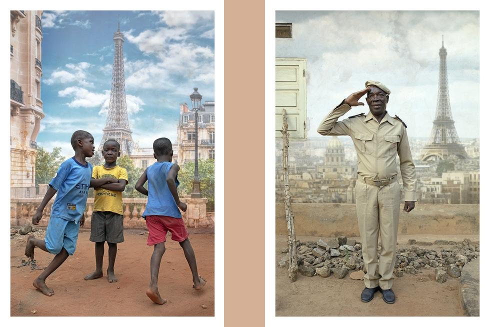 """Deux tirages de la série """"Paris Lomé"""" © Bernard Brisé."""