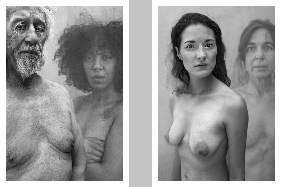 """Deux tirages de la série """"Le regard à quatre yeux"""" © Bernard Brisé."""