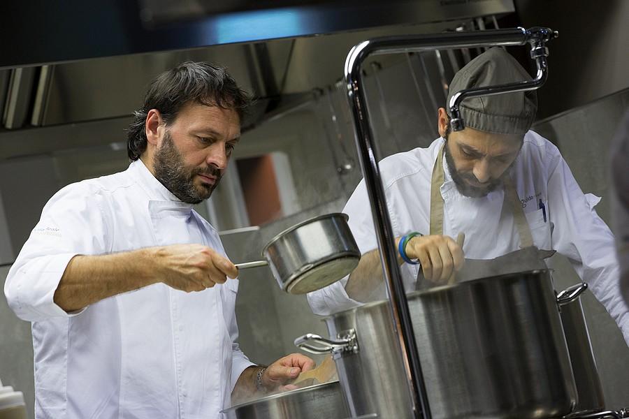 Le chef Ugo Alciati et le metteur en scène Bruno Franceschini © DR.
