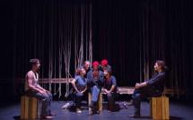 """""""Melone Blu"""", répétition au Théâtre © Cie La Poursuite du Bleu."""